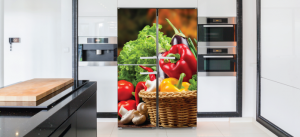 חיפוי מגנט למקררים פלפלים