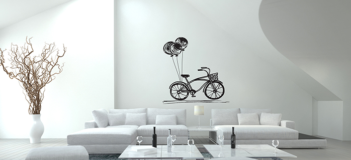 טפטים לקיר בסלון אופניים