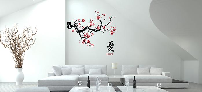 טפטים לקיר בסלון עץ סיני