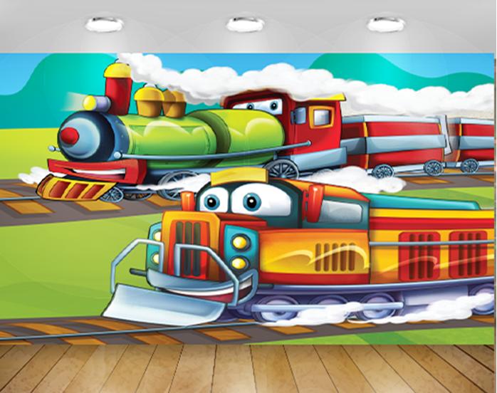 טפט לחדר ילדים רכבת