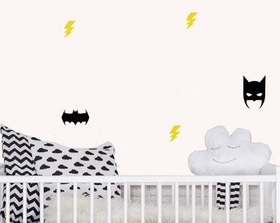 מדבקות לחדרי תינוקות דגם בטמן