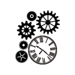 מדבקות לעיצוב הבית שעון קיר