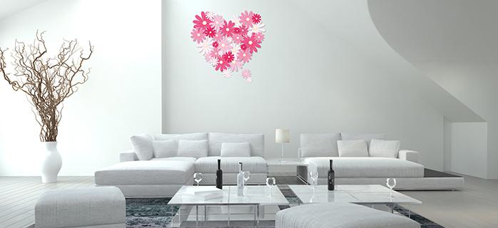 מדבקות קיר פרחים