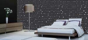 תמונות לחדר שינה טפט נקודות