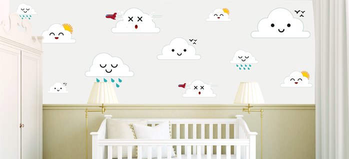 טפטים מעוצבים לתינוקות