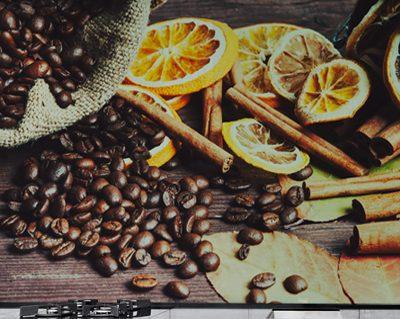 תמונות זכוכית לימונים עם קפה