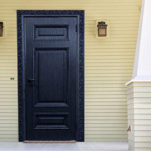 טפט לדלת שער מהודר כחול כהה