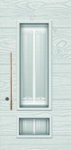 טפט לדלת זכוכית לבן