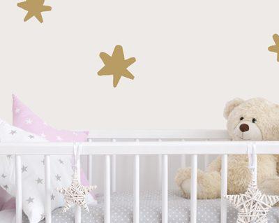 מדבקות לחדרי תינוקות כוכב